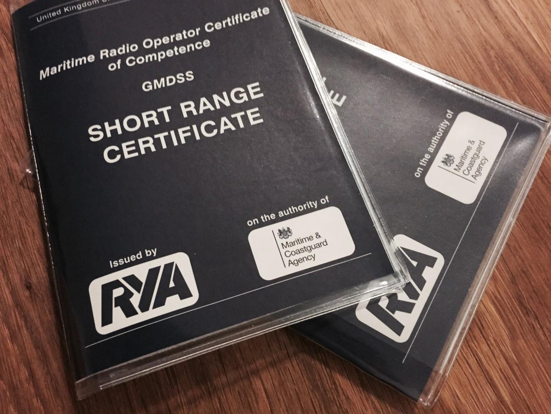 RYA Short Range Certificate (SRC)